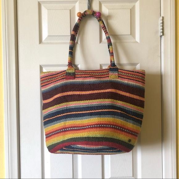 3545483372d Billabong Bags | Rainbow Striped Beach Bag | Poshmark